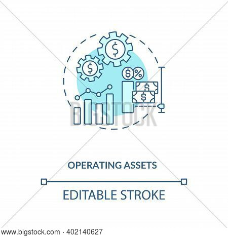 Operating Assets Concept Icon. Am Component Idea Thin Line Illustration. Operating Liabilities. Long