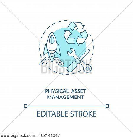 Physical Asset Management Concept Icon. Asset Management Type Idea Thin Line Illustration. Systemise