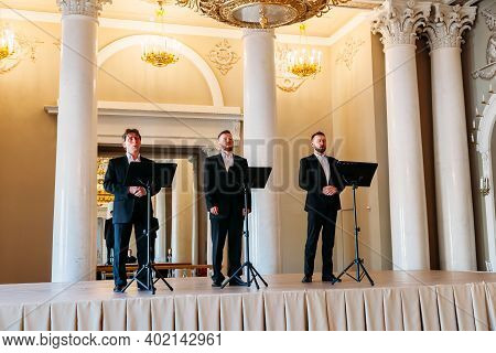 Saint Petersburg, Russia, 18.04.2019, Vocal Ensemble Of The Yusupovsky Palace