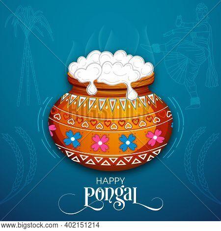 Illustration Of Pongal Festival For The Celebration.