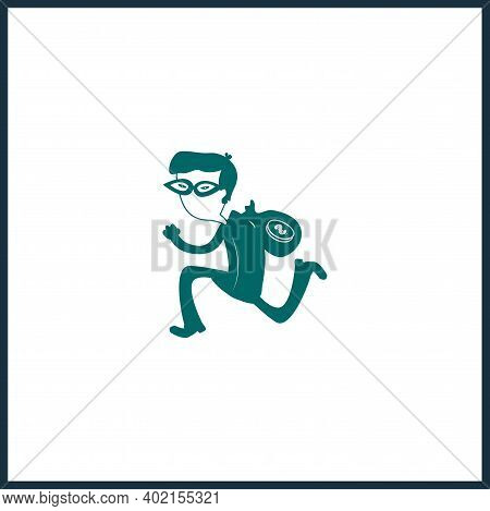 Robber Isolated Vector Icon. Criminal Design Element