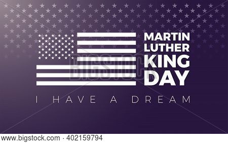 Martin Luther King Mlk Day Vector Illustration - Martin Luther King Day Typography Lettering And Usa