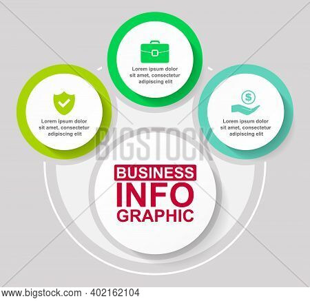 Infographic Vector Template For Presentation, Chart, Diagram, Graph, Business Concept With 3 Options