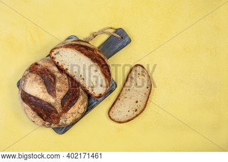 Freshly Baked Wheat Bread With Sourdough.