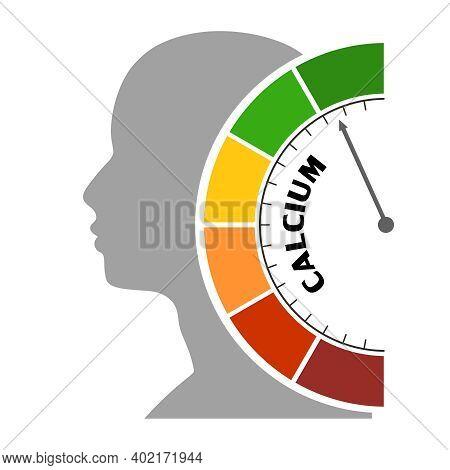 Gradient Scale. Calcium Level Measuring Device. Sign Tachometer, Speedometer, Indicators. Infographi