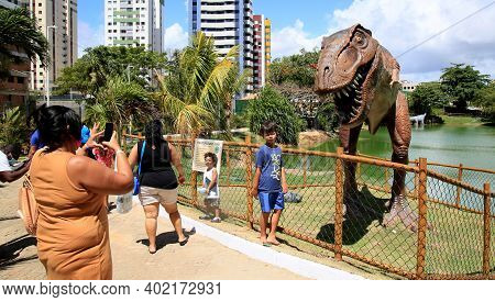 Dinosaur Pond In Salvador