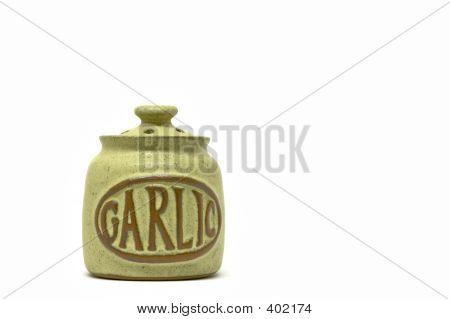 ceramic pot to hold garlic bulbs poster