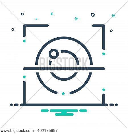 Mix Icon For Retina Recognition Retina Recognition Biometric Identification