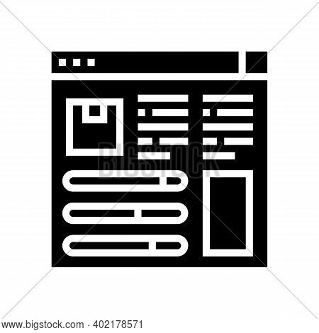 Product Information And Characteristics Glyph Icon Vector. Product Information And Characteristics S