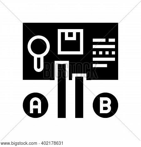 Comparison Market Glyph Icon Vector. Comparison Market Sign. Isolated Contour Symbol Black Illustrat