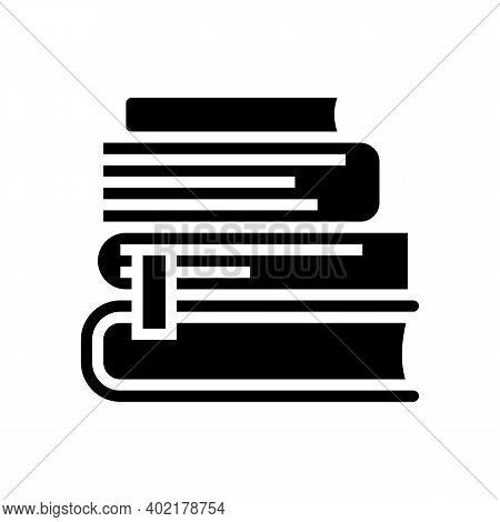 Reading Books Geek Glyph Icon Vector. Reading Books Geek Sign. Isolated Contour Symbol Black Illustr