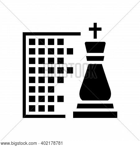 Chess Geek Glyph Icon Vector. Chess Geek Sign. Isolated Contour Symbol Black Illustration