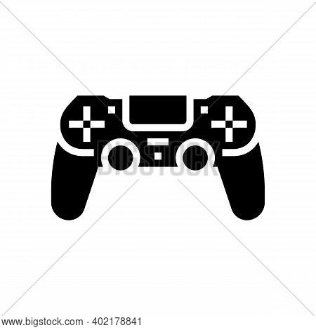Play Game Geek Glyph Icon Vector. Play Game Geek Sign. Isolated Contour Symbol Black Illustration