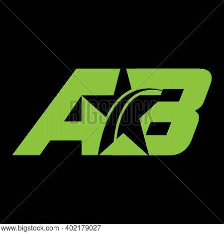 Letters A B, A&b Joint Logo Icon With Business Card Vector Template.t