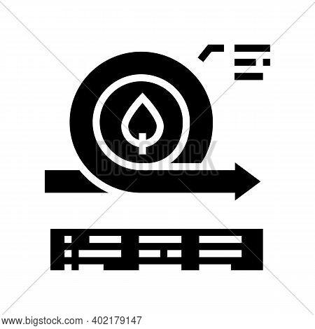 Environmental Circular Economy Glyph Icon Vector. Environmental Circular Economy Sign. Isolated Cont