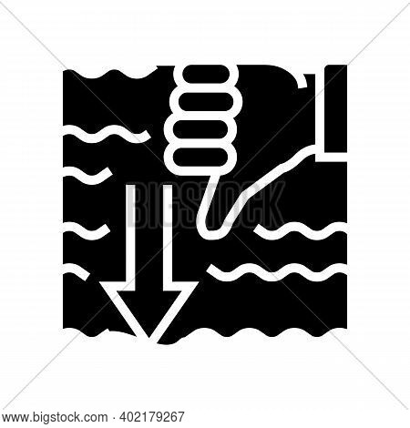 Immersion Diver Gesture Glyph Icon Vector. Immersion Diver Gesture Sign. Isolated Contour Symbol Bla