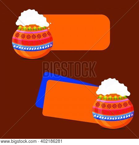 Happy Pongal Festival Offer Banner, Sticker, Label Design Collection Sets