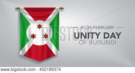 Unity Day Of Burundi Greeting Card, Banner, Vector Illustration