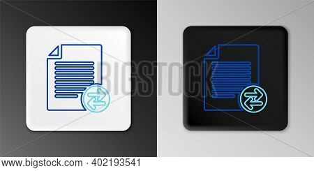 Line Transfer Files Icon Isolated On Grey Background. Copy Files, Data Exchange, Backup, Pc Migratio