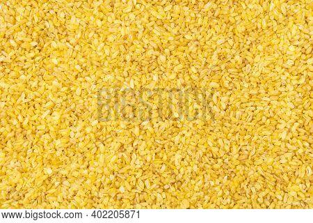 Bulgur Grains Of Durum Wheat Textured Background.