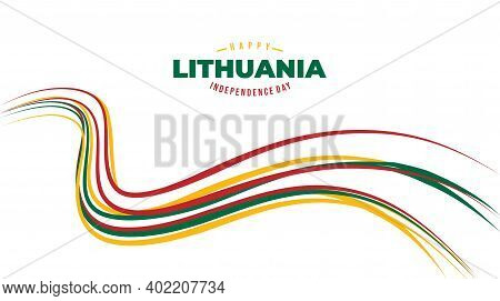 Line Art Background Design For Lithuana Independence Day. Good Template For Lithuania Independence O