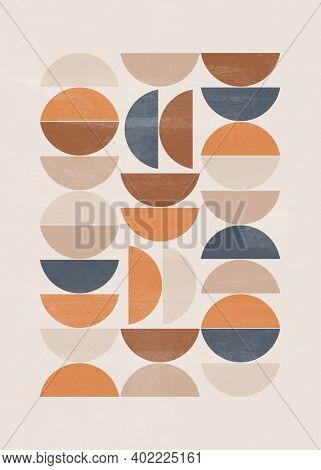 Abstract sun moon print boho minimalist printable wall art geometric abstract sunset print bohemian art work