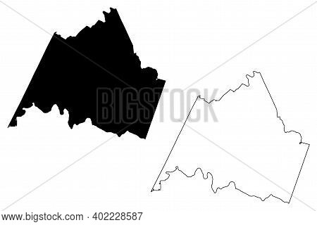 Campbell County, Commonwealth Of Virginia (u.s. County, United States Of America, Usa, U.s., Us) Map