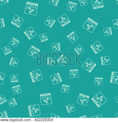 Green Online Internet Auction Icon Isolated Seamless Pattern On Green Background. International Trad