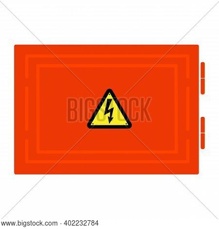 Symbol Electricity. Triangular Black Icon Of Electricity. Power Outage. Warning Logo. Caution. Сonce