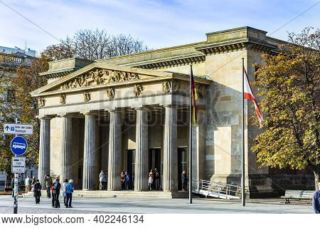 Berlin, Germany - October 27, 2014: People Visit The Alte Wache (old Guard House) In Berlin, Germany