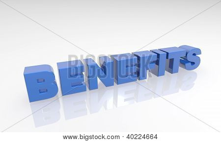 Buzzword Benefits 3d Text