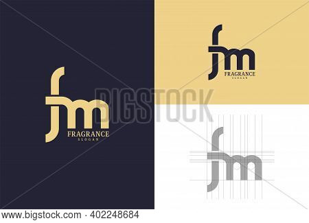 Perfume Logo Design. Luxury Design. Letter F And Letter M Are Used. Fragrance. Clean And Simple. Bus