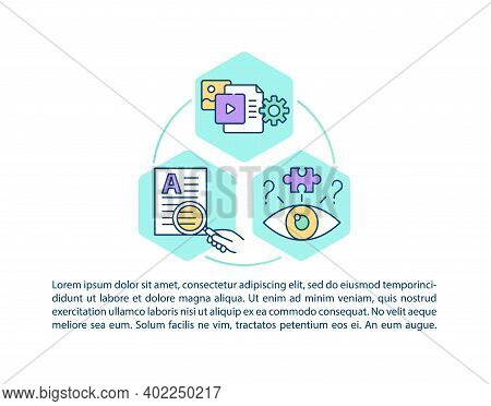Media Literacy Concept Icon With Text. Fact Checking. Research For News. Article Survey Ppt Page Vec