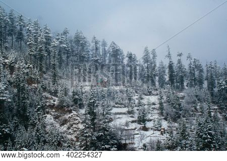 Photograph Of Fresh Snow On The Mountains
