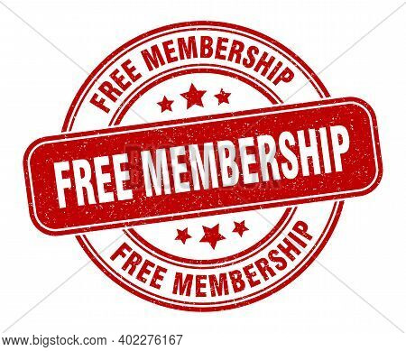 Free Membership Stamp. Free Membership Sign. Round Grunge Label