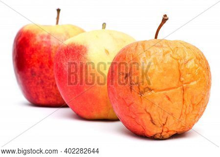 A Picture Of Three Ordinary Apples, Without Modifications..as You Know From The Shop. The Picture Sh