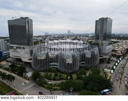 Aerial View Of Pantai Indah Kapuk Avenue Mall Jakarta. A Largest Shopping Mall In Jakarta. With Jaka