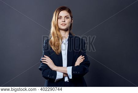 Pretty Business Woman In A Professional Office Manager Suit Official