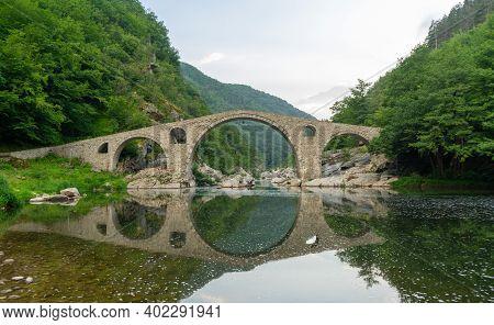 Roman Old Stronework,devil Bridge, From The Ottoman On Eastern Europe, At Bulgaria. Medieval Structu