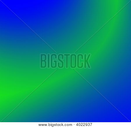 Blue Green Swoosh