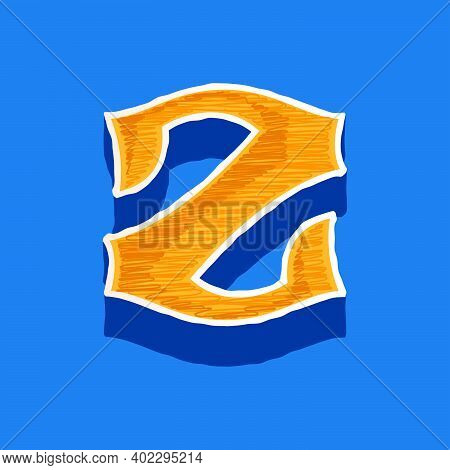 Z Letter Embroidered Logo In Classic Collegiate Or Sports Style. Retro Font Perfect To Use In Any Un