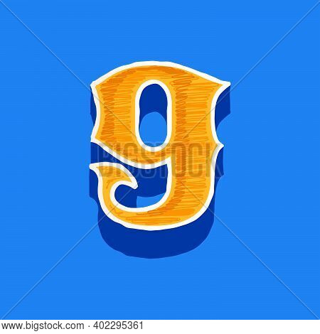 Number Nine Embroidered Logo In Classic Collegiate Or Sports Style. Retro Font Perfect To Use In Any