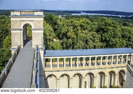 Potsdam, Germany. - August 8, 2015:  View Of The Belvedere, A Palace In The New Garden On The Pfings