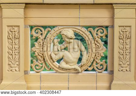Potsdam, Germany. - August 8, 2015:  Detail Of The Belvedere, A Palace In The New Garden On The Pfin