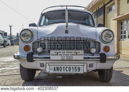 Andamans, India - April 20, 2014: A Hindustan Car Fron The Government And Andamans And Nicobar Admin