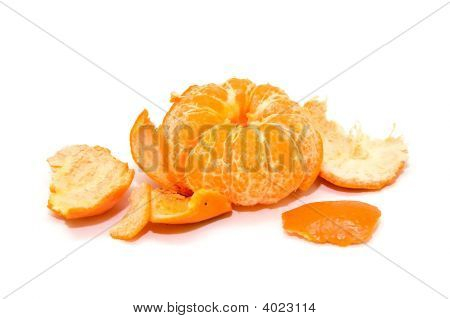 Mandarins Isolated On A White Background