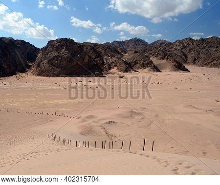 Desert of Sinai Peninsula, Egypt. Near Sharm El Sheikh