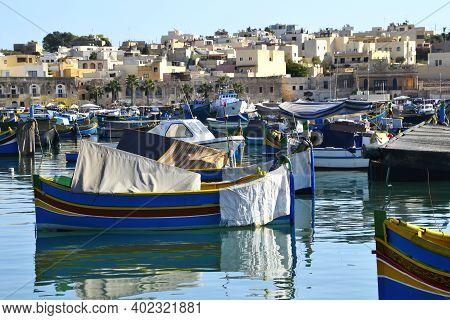 La Valletta - Malta - September 11, 2011: The Harbor Of The Valletta. Isle Of Malta