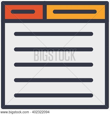 Digital File Spreadsheet Document Vector Icon. Computer Window.