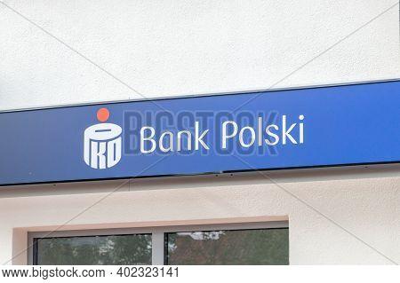 Pruszcz Gdanski, Poland - September 29, 2020: Pko Bank Polski.